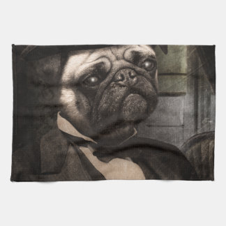 Pug Dog Dapper Gent Hand Towels