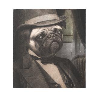 Pug Dog Dapper Gent Notepad