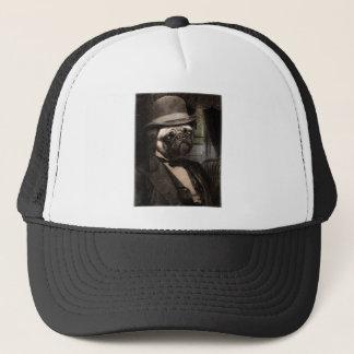 Pug Dog Dapper Gent Trucker Hat