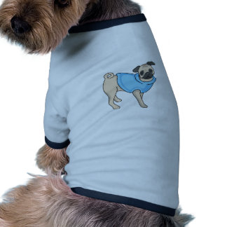 PUG DOG RINGER DOG SHIRT
