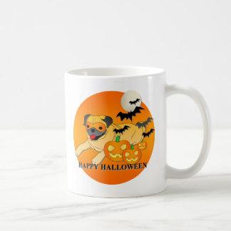 Pug Dog Halloween Coffee Mugs