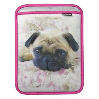 Pug dog iPad sleeve