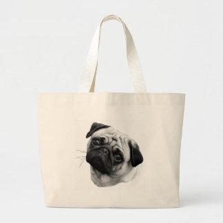 Pug Dog Jumbo Tote Bag