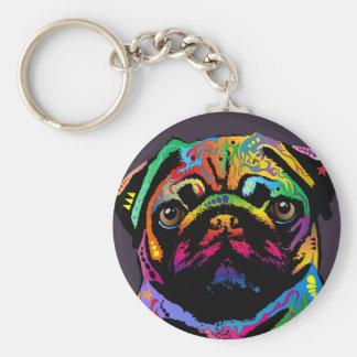 Pug Dog Key Ring