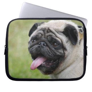Pug dog laptop bag, cute photo laptop sleeve