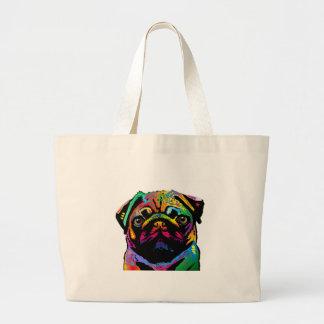 Pug Dog Large Tote Bag