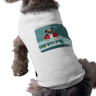 Pug Dog Martini Bar Sleeveless Dog Shirt