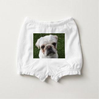 Pug dog nappy cover