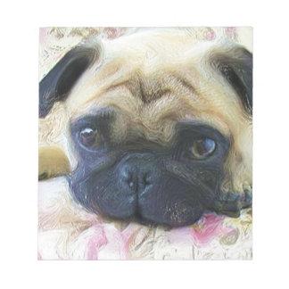 Pug dog notepad