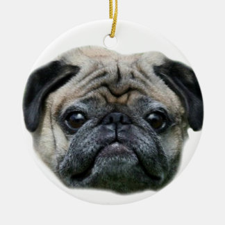 Pug dog ornamnet christmas ornament