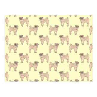 Pug Dog pattern boy Postcard