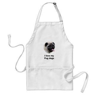 Pug dog pet photo portrait standard apron