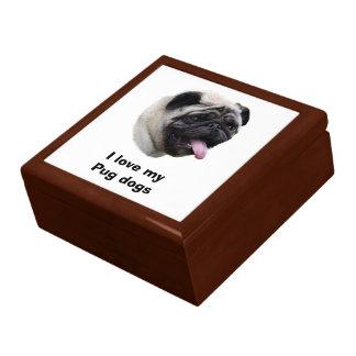 Pug dog pet photo portrait gift box