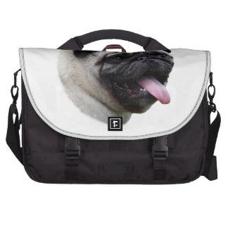 Pug dog pet photo portrait bag for laptop