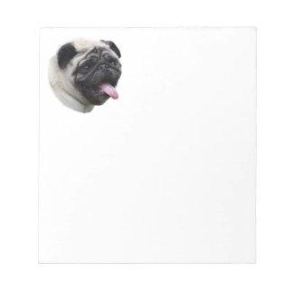 Pug dog pet photo portrait notepad