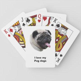 Pug dog pet photo portrait playing cards