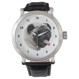 Pug dog pet photo portrait watch