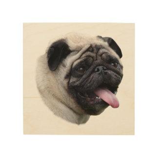 Pug dog pet photo portrait wood wall art