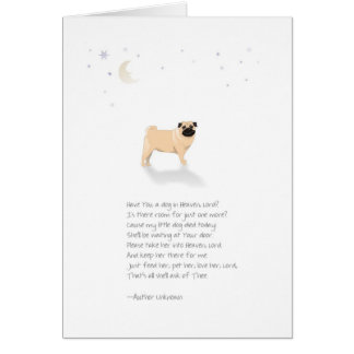 Pug Dog Pet Sympathy-Female-Insert Pets Name Card