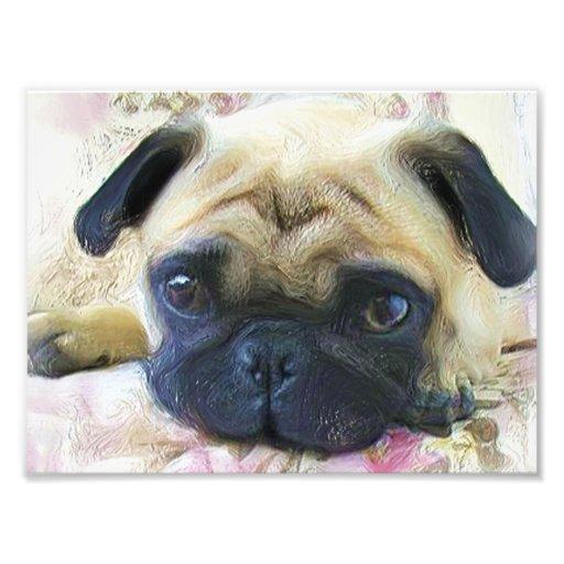 Pug dog art photo
