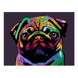 Pug Dog Postcard