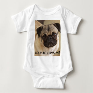 PUG DOG PUP BABY BODYSUIT