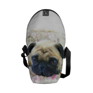 Pug dog Rickshaw Mini messenger bag