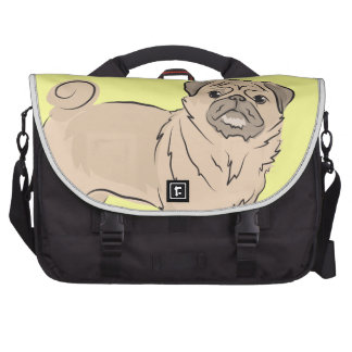 PUG dog standing alone cute! Laptop Bag