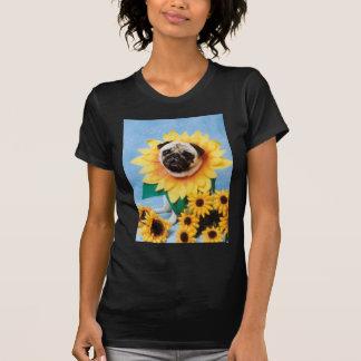 Pug Dog Sunflower T-Shirt