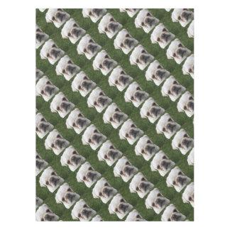 Pug dog tablecloth