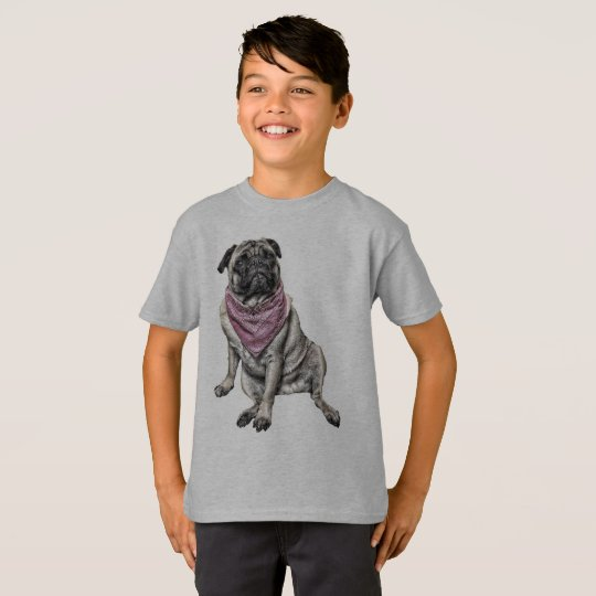 Pug Dog Theme Boy's T-shirt