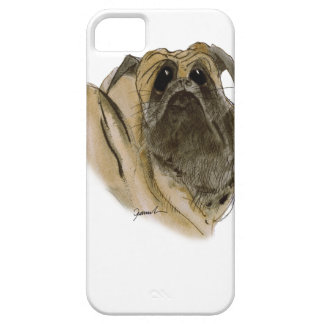 pug dog, tony fernandes barely there iPhone 5 case