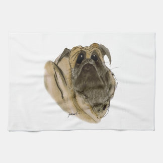 PUG DOG, tony fernandes Hand Towels
