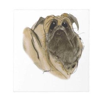 PUG DOG, tony fernandes Notepad