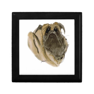 PUG DOG, tony fernandes Small Square Gift Box