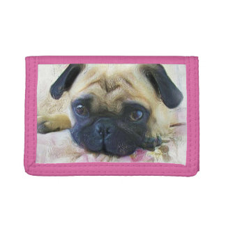 Pug Dog Trifold Wallet