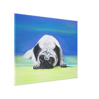 Pug Dog Wrapped Canvas Gallery Wrap Canvas