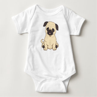 Pug Drawing By Pablo Fernandez Limited Edition Baby Bodysuit