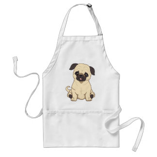Pug Drawing By Pablo Fernandez Limited Edition Standard Apron