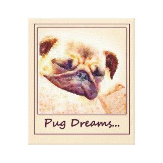 Pug Dreams... Canvas Print