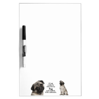 Pug Dry Erase Board