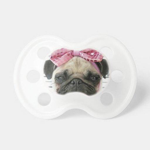 Pug Baby Pacifier