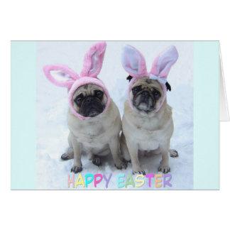 Pug Easter Bunny Card