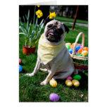 Pug Easter Greeting Card