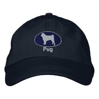 Pug Embroidered Hat (Dark)