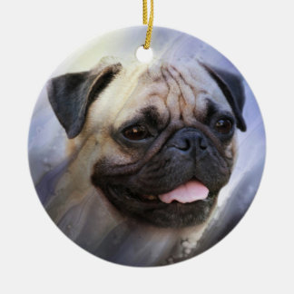 Pug face christmas ornament