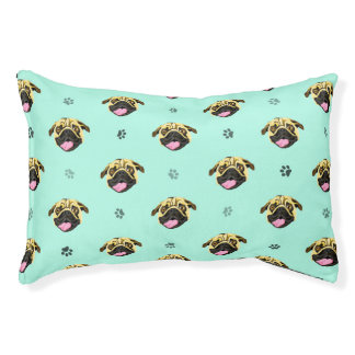 Pug Face Dog Bed