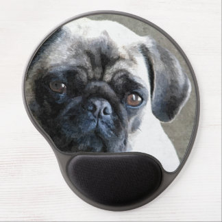Pug Face Gel Mouse Pad