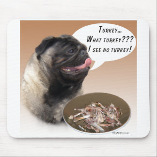Pug (fawn) Turkey Mouse Mat