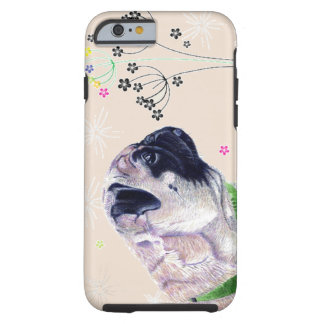 Pug & Flower iPhone 6 case